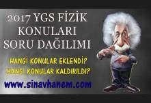2017 Ygs Fizik Konuları ve Dağılımı