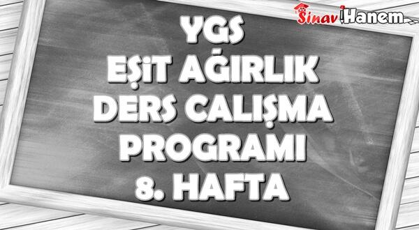Ygs Eşit Ağırlık Tm Ders Çalışma Programı Hafta: 8