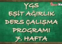 Ygs Eşit Ağırlık Tm Ders Çalışma Programı Hafta: 7