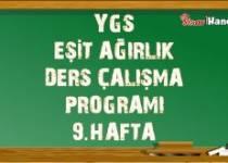 Ygs Eşit Ağırlık Tm Ders Çalışma Programı Hafta: 9
