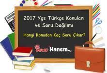 2017 Ygs Türkçe Konuları ve Soru Dağılımı