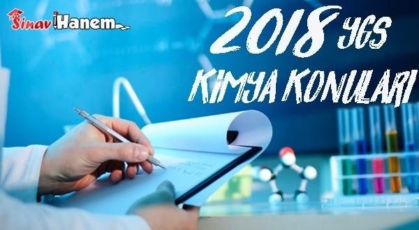 2018 Ygs Kimya Konuları ve Soru Dağılımı