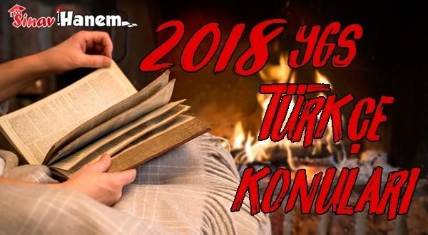 2018 Ygs Türkçe Konuları ve Soru Dağılımı