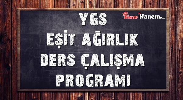 Ygs TM Eşit Ağırlık Ders Çalışma Programı 2018