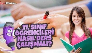 11. Sınıf Öğrencileri Nasıl Ders Çalışmalı?