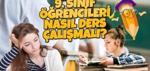 9. Sınıf Öğrencileri Nasıl Ders Çalışmalı?