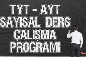 YKS (Tyt – Ayt) Sayısal (MF) Ders Çalışma Programı 2020