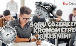 Soru Çözerken Kronometre Kullanımı